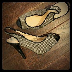 Sling back heels new!